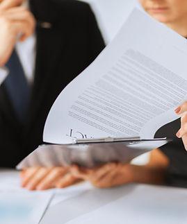 Firma de contrato de Papel