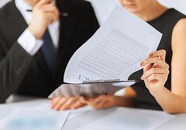Signature de contrat papier