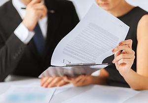 Kontrakts Paper Signering