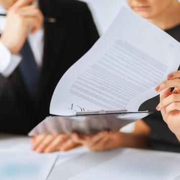 Vertrag Papier Signing
