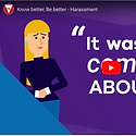 Know Better Be Better Harassment video