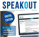Cover of Speak Out magazine, click here to access the article