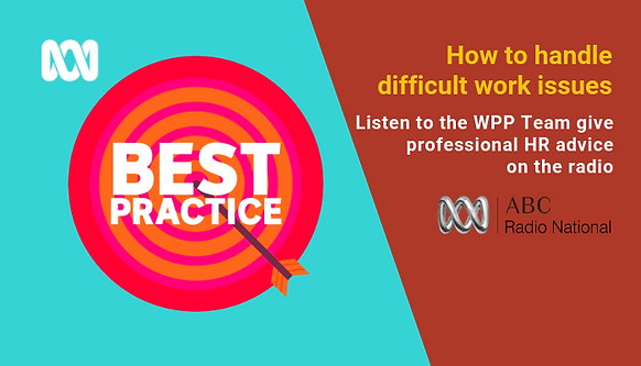 The ABC radio and Best Practice logos with text How to handle difficult work issues