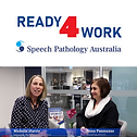 Ready 4 Work logo and video thumbnail of Nichola & Anna. Click here to access the video