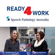 Ready 4 Work logo with image of Nichola and Anna