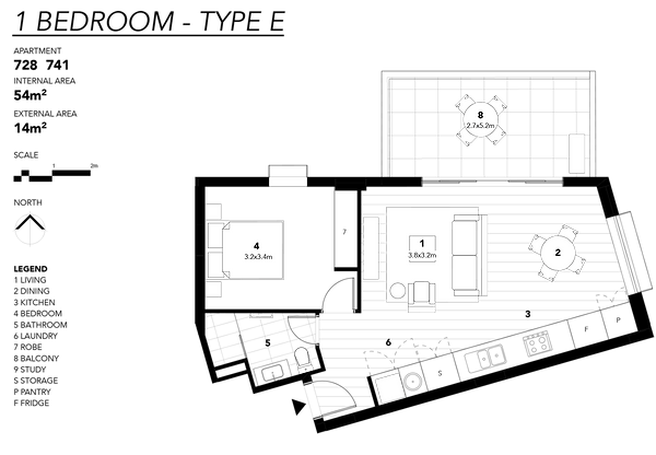 1 BEDROOM - TYPE E.png