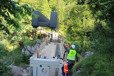 Brückenbau Allgäu, Scheibel, Lechfall, Maxsteg, Stahlbrpcke, Bauunternehmen Füssen, Baufirma Füssen, Baugeschäft