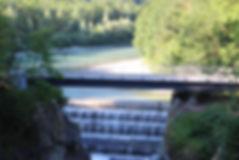 Lechfall, Brückenbau, Stahlbrücke, Bauunternehmen, Bauunternhemung, Allgäu, Wir bauen Auf's Allgäu, Lech, Scheibel, Firma Scheibel, Beton