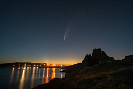 Comet Neowise over Hugh Town