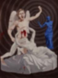 Venus' by Yves Klein shoots Antonio Canova's Cupid And Psyche
