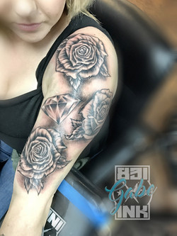 roses and diamond