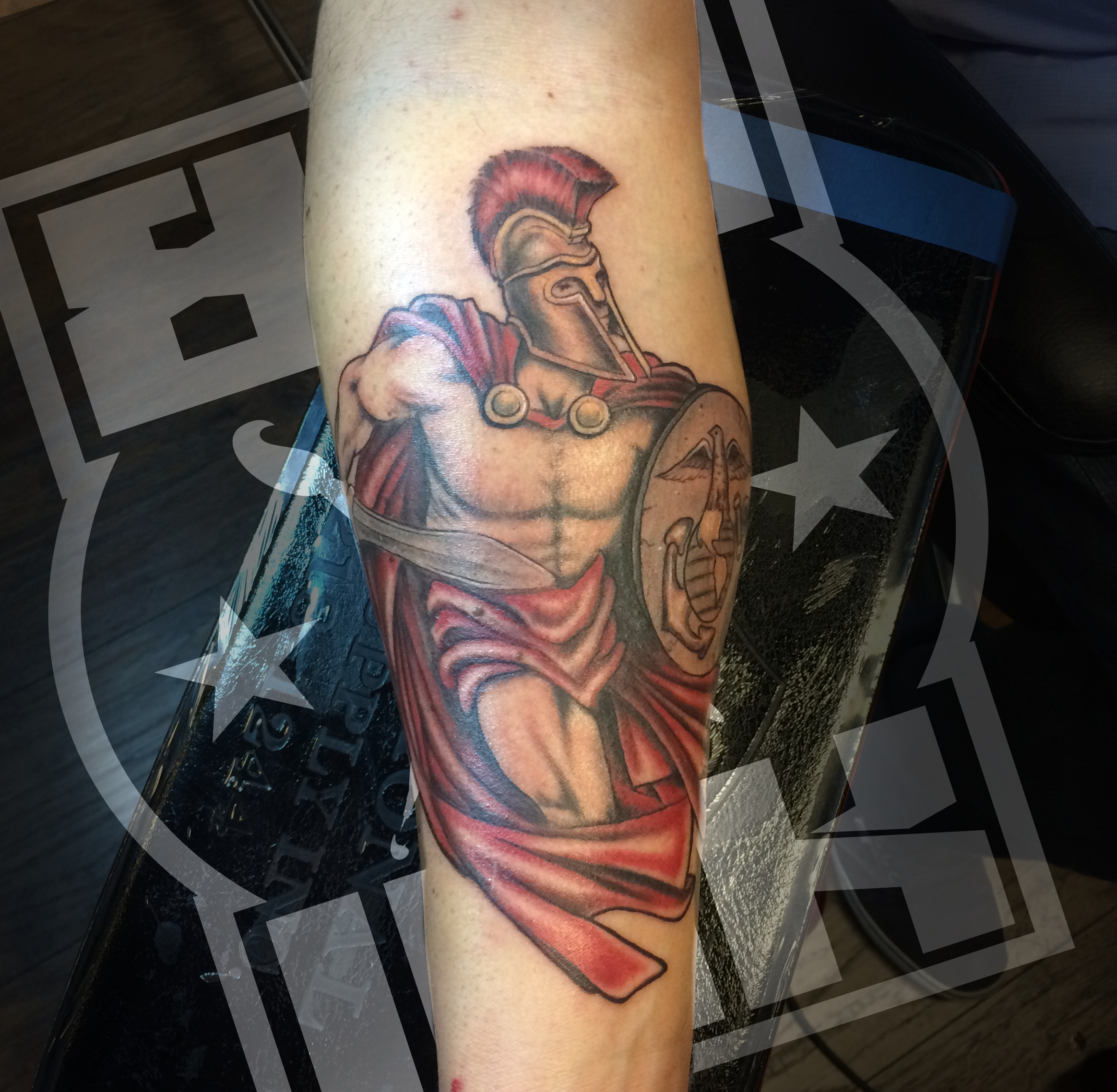 Roman soldier tattoo