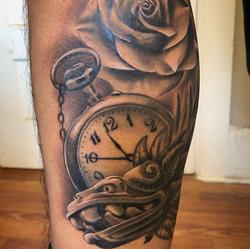 Rose clock and aztec art