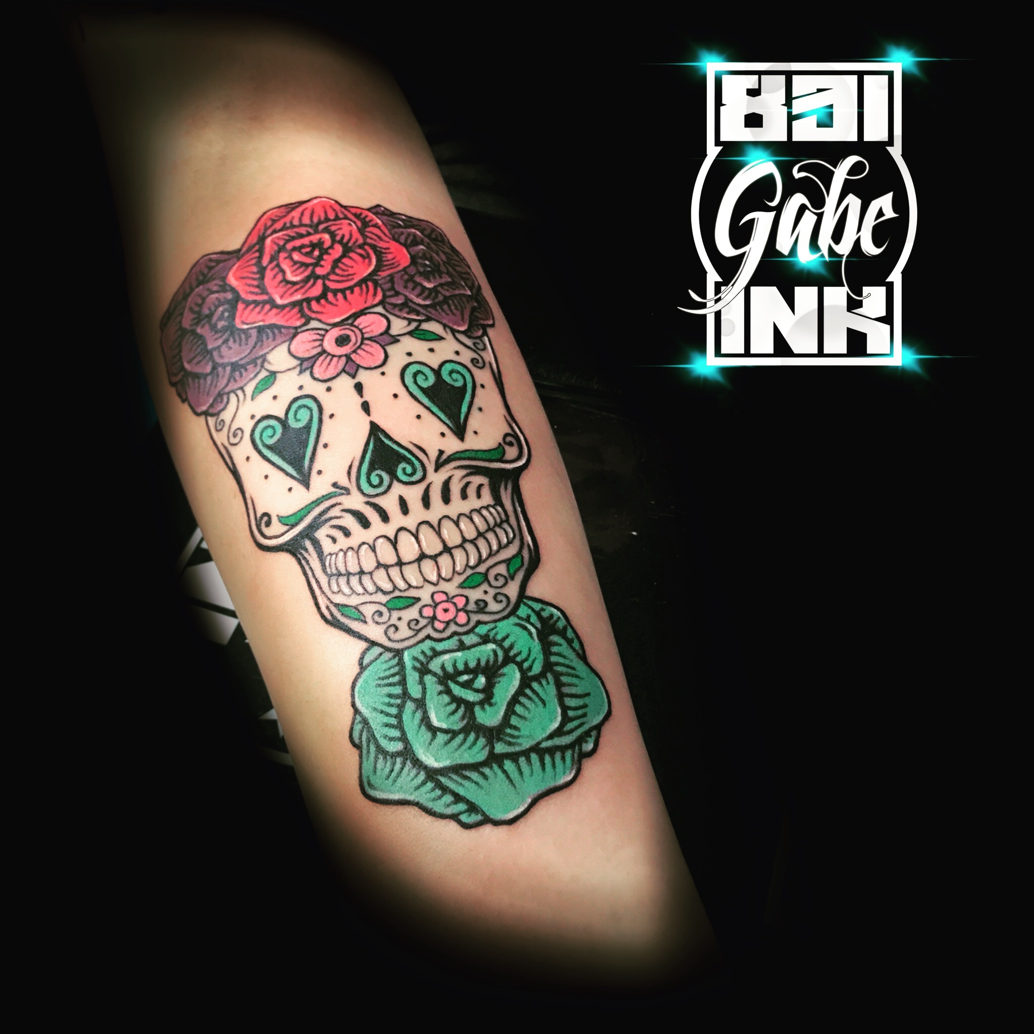 Day of the dead skull by Gabe