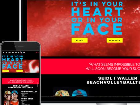 Sportliche Website online