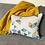 Thumbnail: Manifest Beige Cotton-Satin Cushion (small)