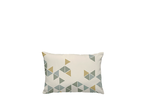 Manifest Beige Cotton-Satin Cushion (small)