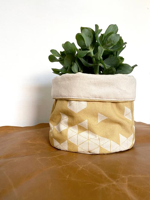 Manifest Yellow Plant Pot Cover