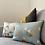 Thumbnail: Manifest Turquoise Cotton-Satin Cushion (Small)