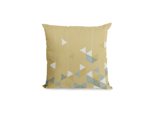 Manifest Yellow Velvet Cushion (Large)