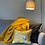 Thumbnail: Manifest Yellow Cotton-Satin Cushion (Small)