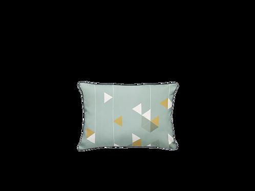 Manifest Turquoise Cotton-Satin Cushion (Small)