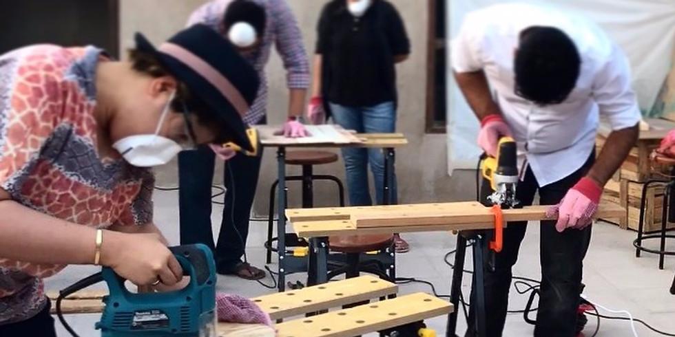 DIY Up-cycled Furniture Making - thejamjar - 22nd July