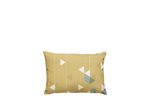 Manifest Yellow Cotton-Satin Cushion (Small)