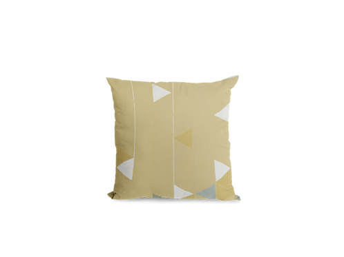 Manifest Yellow Velvet Cushion (Medium)