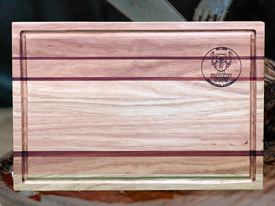 Hand Crafted Tasmanian Oak/Jarrah Stripe Chopping Board (500x340x40mm)