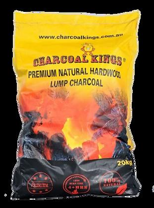 Charcoal Kings 20kg Premium Natural Hardwood Charcoal