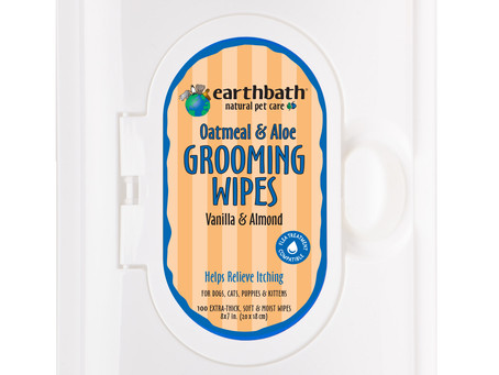 Earthbath® Launches New Oatmeal And Aloe Grooming Wipes (ENG,FR,ES)
