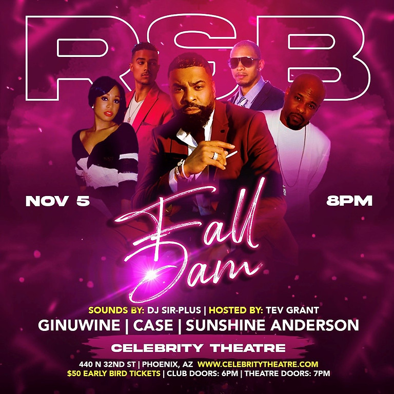 Ginuwine, Case, Sunshine Anderson and Hosted by Tev Grant