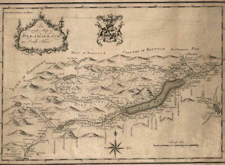 Old map of Breadalbane in Perth shire - 1770