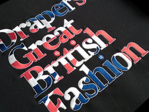 Drapers fashion embroidery logo
