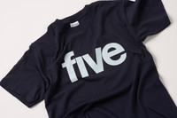 Five TV logo screenprinted T-shirt
