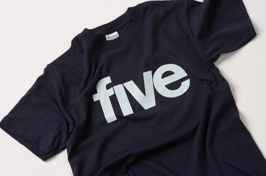 Five TV logo screenprinted T-shirt