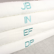 initial embroidery towel