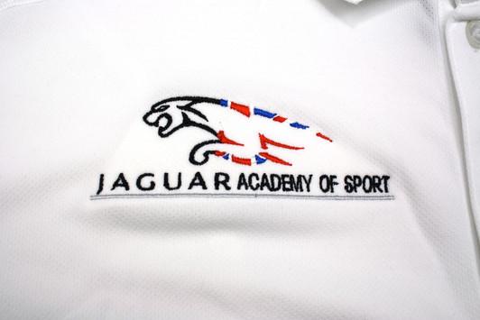 Jaguar Academy of Sport embroidered polo shirt