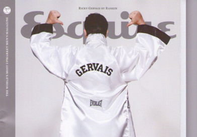 Ricky Gervais embroidered bespoke robe