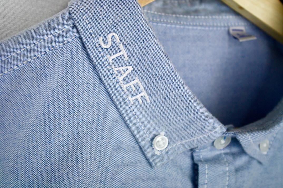 staff shirt embroidery