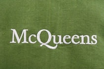 Mcqueens Flowers logo embroidered