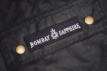 Embroidered patch on a _barbour jacket f