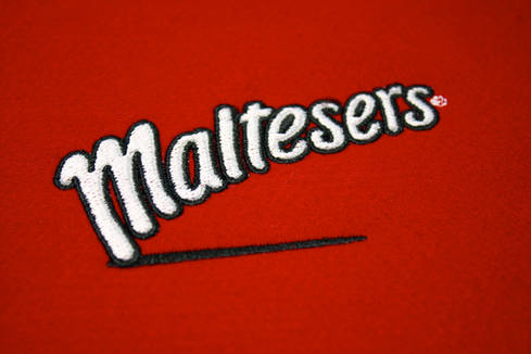 maltesers logo embroidery