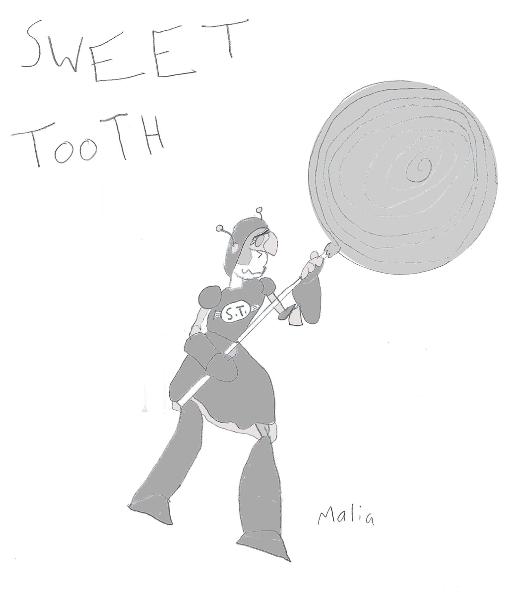 MALIA A: 'SWEET TOOTH' PIN-UP