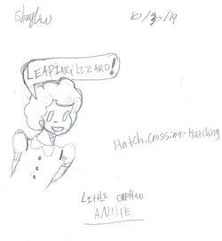 SHAYLIN- LITTLE ORPHAN ANNIE PIN-UP