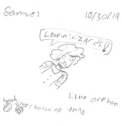 SAMUEL- LITTLE ORPHAN ANNIE PIN-UP