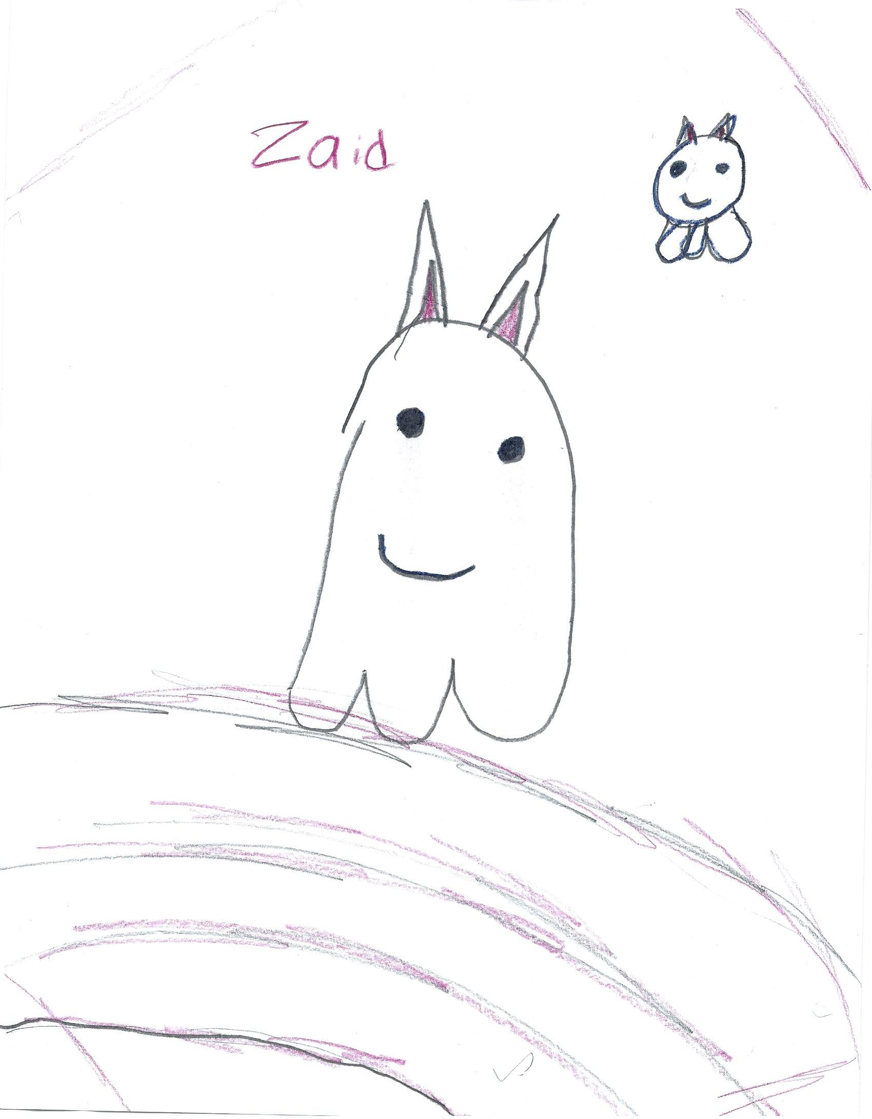 ZAID- DRAW A GHOST CHALLENGE PIN-UP
