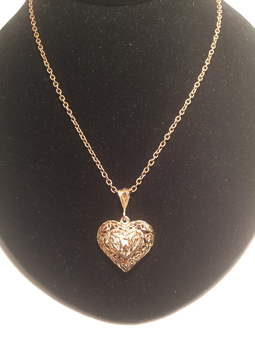 Antique heart on chain necklace.