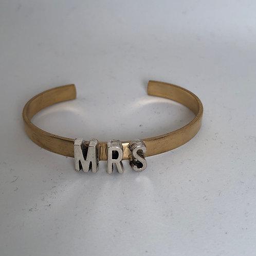 """MRS 1/4"""" brass cuff"""